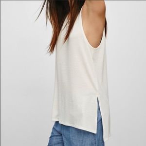 Wilfred Free White Tunic Tank Top Size Small